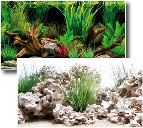 Wave Fond Photographique Double Wonder Blister pour Aquariophilie 60 x 150 cm A8011571