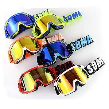 Lvshiguang Gafas de ciclismo para casco de motocross profesionales, gafas de esquí y snowboard para