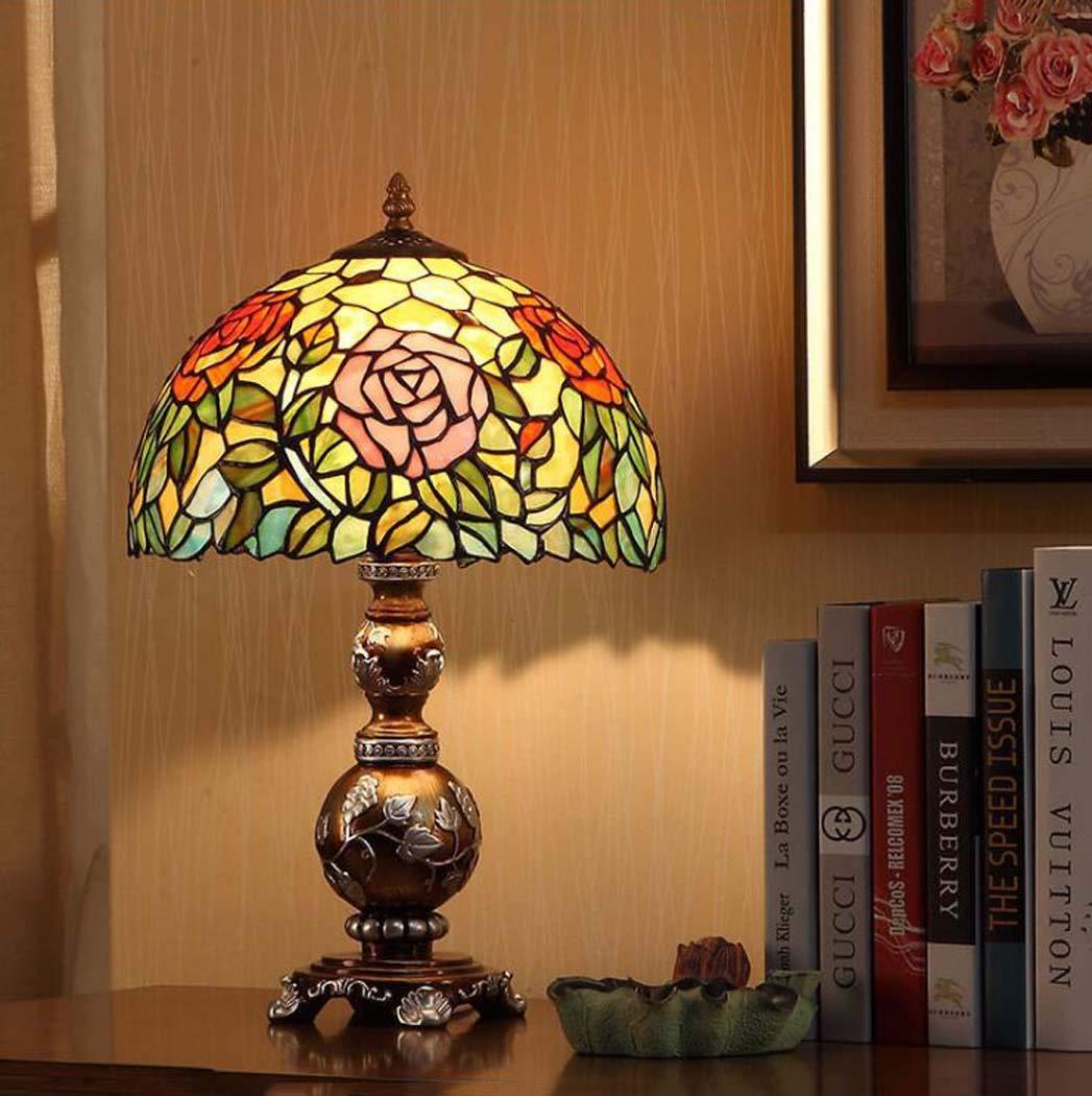 Lámpara de mesa de estilo Tiffany/arte en vidrio de estilo europeo ...
