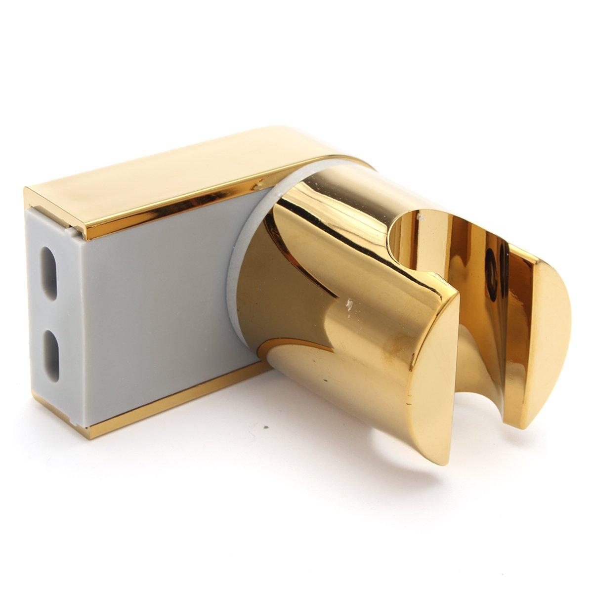 Shower Head Set with 1.5m Shower Hose & Bracket Holder Chrome Universal Gold Baogu