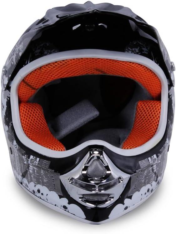 Actionbikes Motors Motorradhelm X-Treme Kinder Cross Helme Sturzhelm Schutzhelm Helm f/ür Motorrad Kinderquad und Crossbike