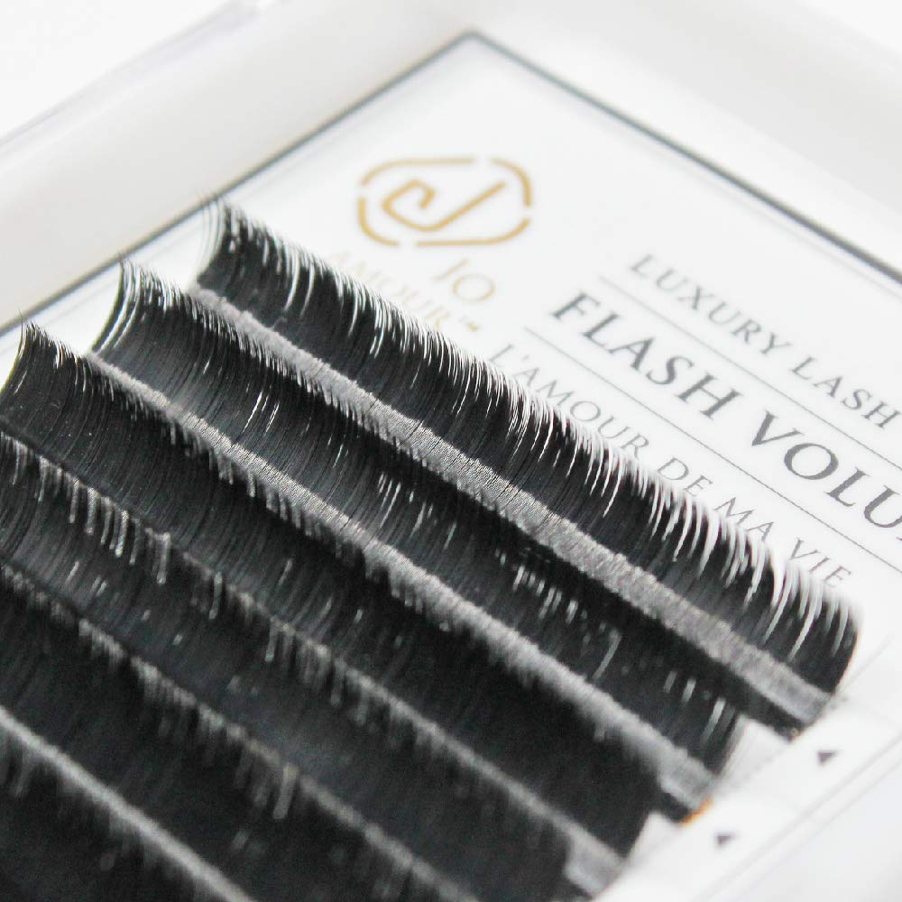 c86848d1f97 Amazon.com : JO AMOUR 0.07 One Second Mega Volume Eyelash Extension C/CC/D  Curl Length 8-15mm Easy To Make Fan For Professional Using (CC/Mix) : Beauty