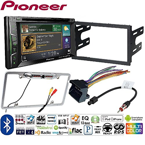 Pioneer AVH-1400NEX Double DIN Apple CarPlay In-Dash w/Touchscreen Vwk1015 99-06 Volkswagen Golf Gti Double Din Kit Car License Plate Rearview Camera - CAM810 Silver