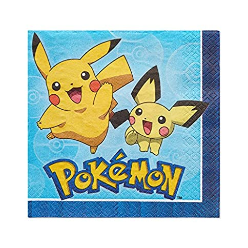 - 61EpjQ5 2B6 2BL - American Greetings Pokemon Lunch Napkins, 16-Count