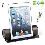 高音質Bluetooth スピーカー 【スタンド機能付き】 小型携帯用スピーカー 充電式 iPhone 5s/5C/4s、samsung galaxy、iPad 、iPod、Google Nexus、タブレット、スマートフォンとPC対応 (コーヒー色)