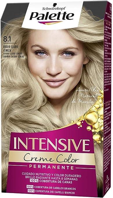 Schwarzkopf Palette Intensive Creme Color – Tono 8.1 cabello Rubio Claro Ceniza - Coloración Permanente de Cuidado con Aceite de Marula – Óptima ...