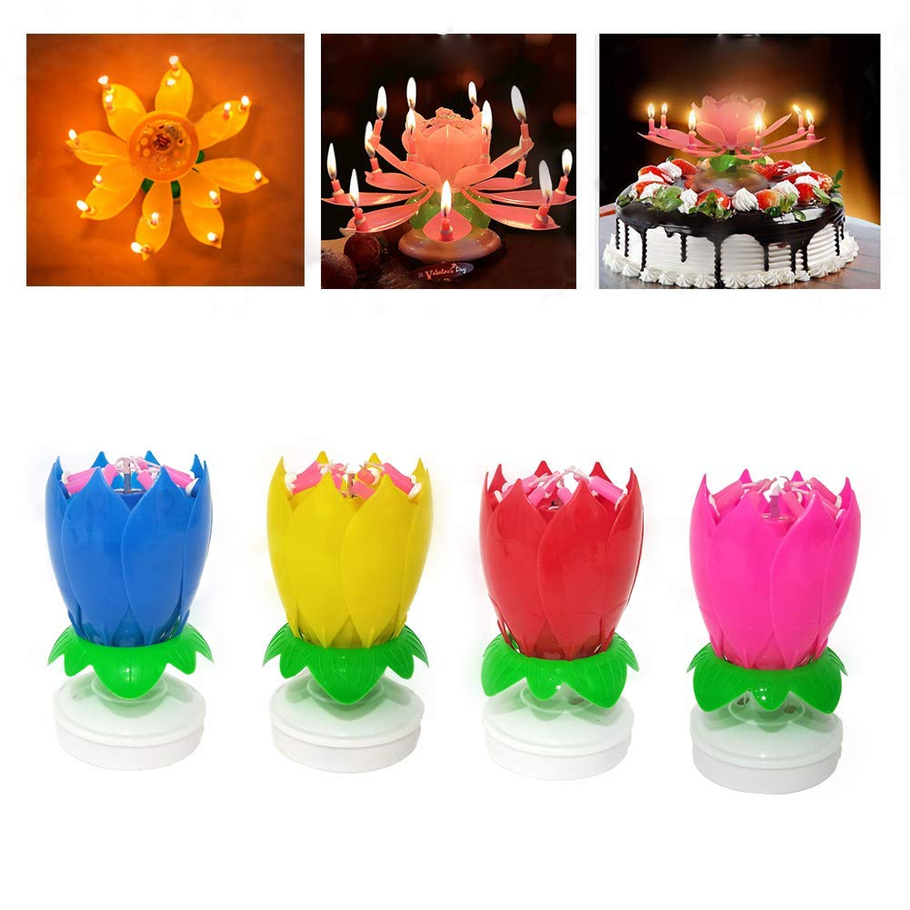 Happy Birthday Candle,Cake Candles by Luo's (4 x Multicolors)