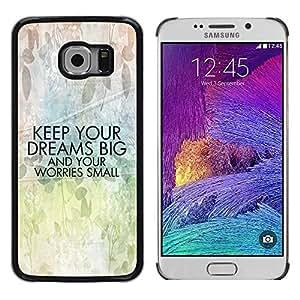 Be Good Phone Accessory // Dura Cáscara cubierta Protectora Caso Carcasa Funda de Protección para Samsung Galaxy S6 EDGE SM-G925 // Motivation Art Text Positive