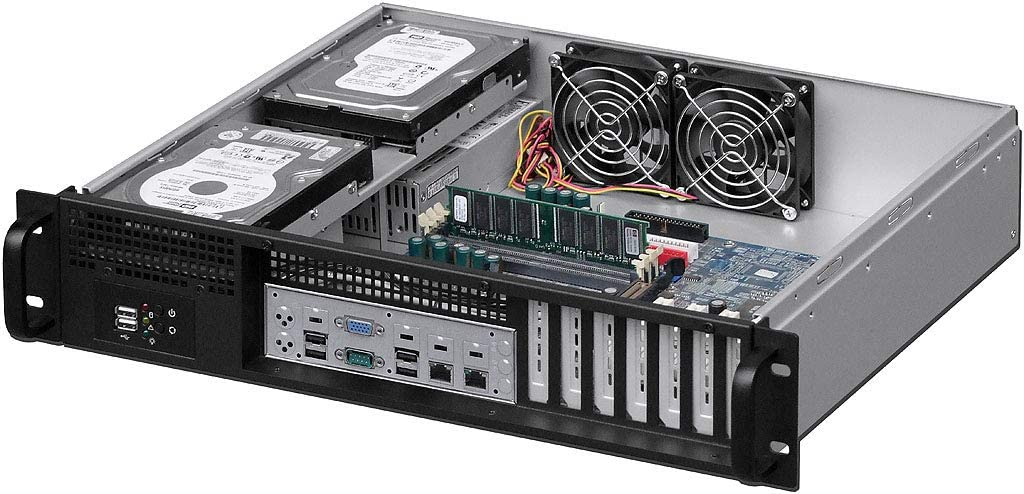 NO Power Supply,No System and Case Only 2x3.5+ 4 x 2.5 HDD PLINKUSA RACKBUY 2U Rackmount Chassis 13.78 Deep IPC-2350F ATX//Mini ITX USB 2.0 Front Access
