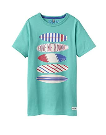 sports shoes 0cbce 940aa Tom Joule Boys' T-Shirt Turquoise Turquoise - Turquoise - 11 ...