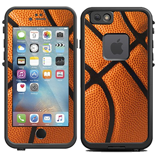 Protective Designer Vinyl Skin Decals for LifeProof FRE iPhone 6 / 6S Case - Basketball design - by [TeleSkins] - Only SKINS and NOT Case