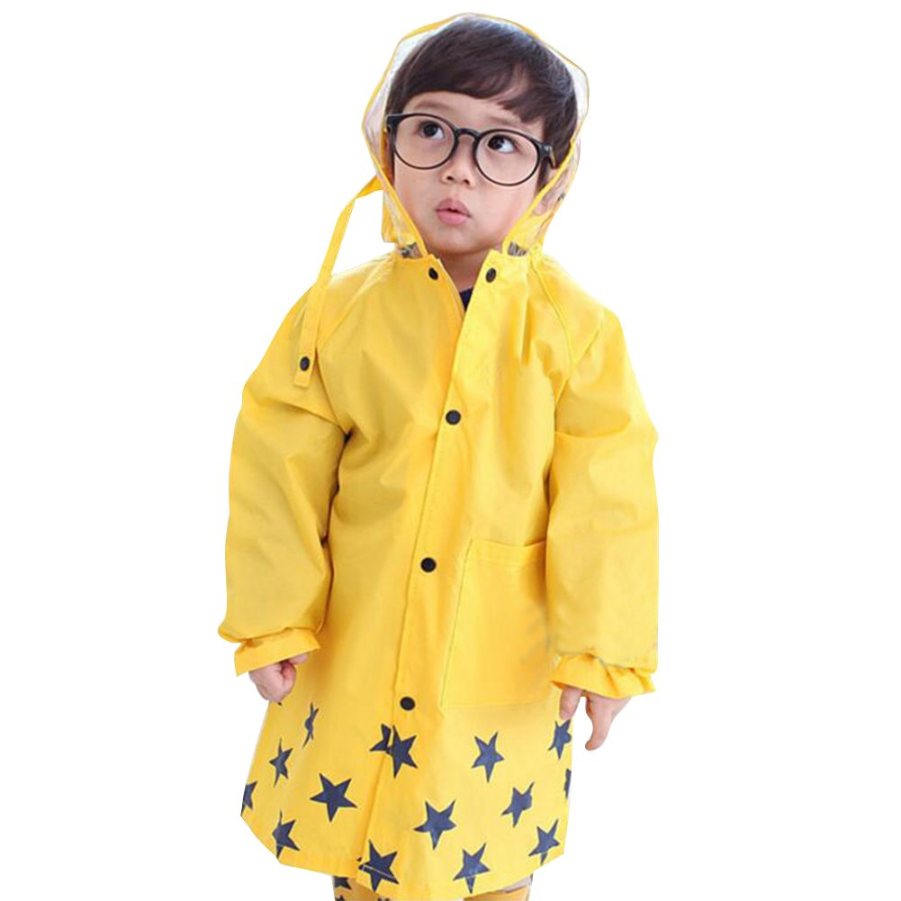 Highdas niños Cartton impermeable de los niños del poncho Senderismo (amarillo) M / 90-105 Hiqimi Network technology Ltd N160502A02-I