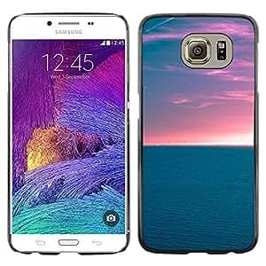 TopCaseStore / la caja del caucho duro de la cubierta de protección de la piel - Clouds Sky Summer Horizon Ocean - Samsung Galaxy S6 SM-G920