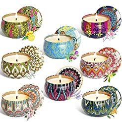 YCYH Scented Candles Gift Sets, Natural ...