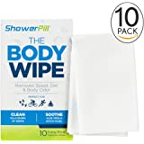 ShowerPill Body Cleaning Wipes with Special Cleansing Solution – Mens Shower Wipes – Special Cleansing Cloths – Camping Wipes for Bathing – 30 Seconds Clean with Body Gym Wipes