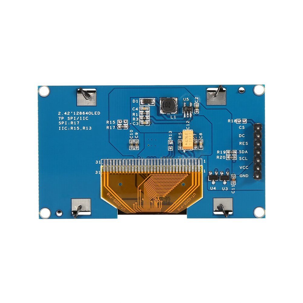 1pc 2.42 OLED Display Module 12864 IIC I2C Serial Peripheral Interface for UNO R3128X64 in 4 Types White Text