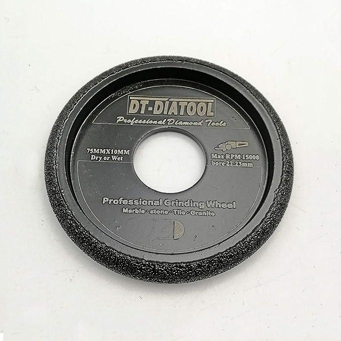 DT-DIATOOL Diamond Convex Grinding Wheel Diam 3 inch for Concrete Marble Granite Quartz Profile grinding wheel Diamond Hight 20mm