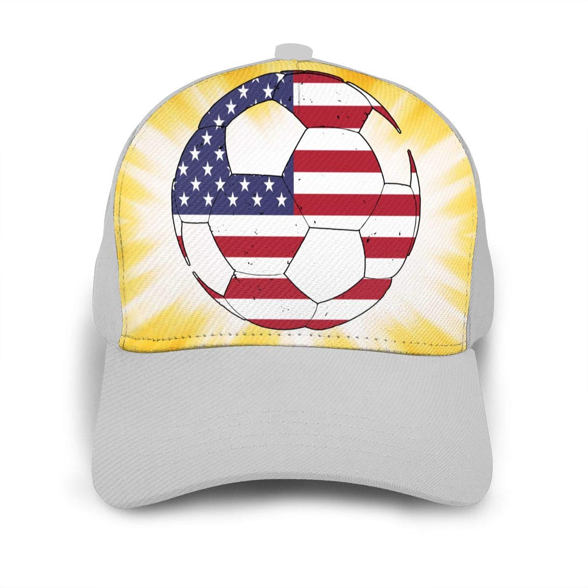 American Flag Football Soccer Peaked Cap for Mens and Womens Cotton Cricket Cap