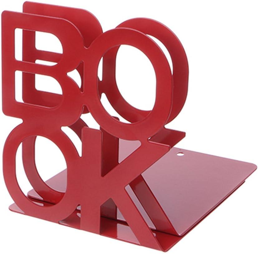 Alphabet Shaped Iron Metal Bookends Books Support Holder Desk Stands