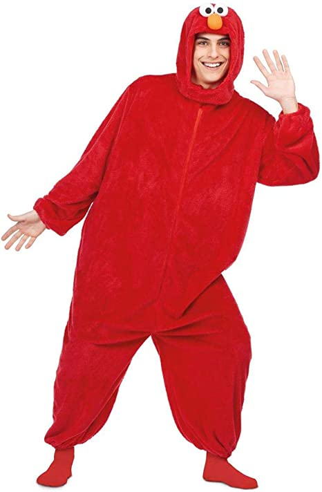 Barrio Sésamo Disfraz de Elmo Rojo para Adultos: Amazon.es ...