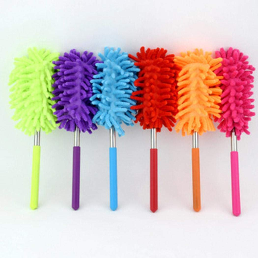 Onbay1 Durable Adjustable Handle Length Dust Brush Feather Duster Feather Dusters