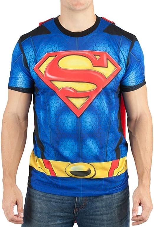Bioworld Mens Superman Muscle Costume Tee