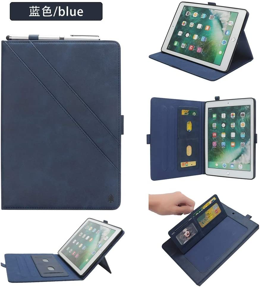 Custodia completamente protettiva Estuche for iPad 9,7 pulgadas 2017 2018 (5ta / 6ta generación) / IPad Air 2 / IPad Air, Solit funcional Color Premium PU Funda de tableta de doble soporte de cuero co: Amazon.es: Electrónica