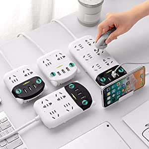 DEAMOS International Power Board Strip 4 Way Outlets Socket 3 USB Charging Charger Ports w/Surge Protector 1.8M (4 Outlet 3 USB)