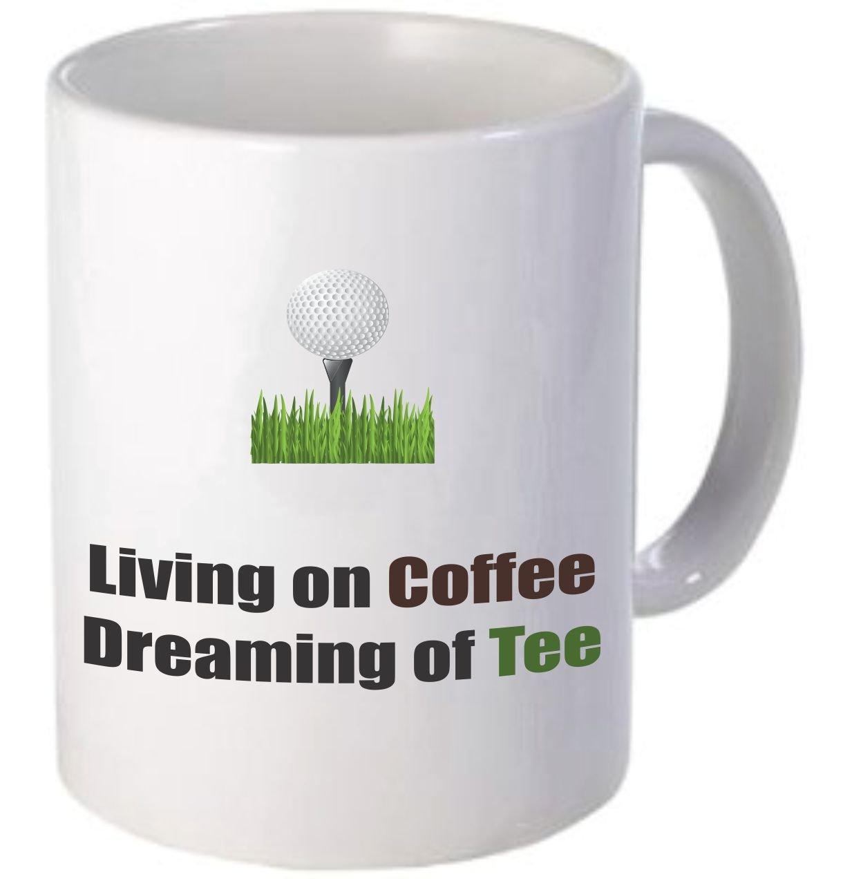 Rikki KnightコーヒーとTee – 面白い引用デザイン11オンスセラミックコーヒーマグカップ B01LXNMGWA