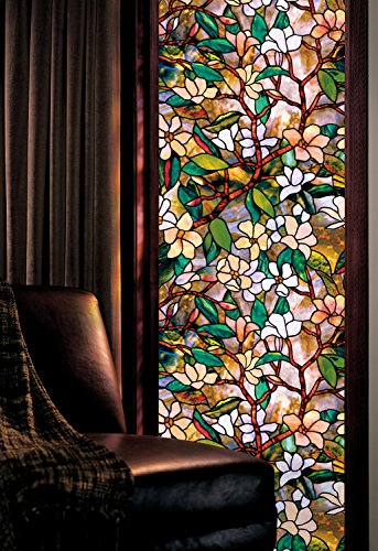 Artscape 01-0113 Magnolia Window Film 24'' x 36'' by 01-0113