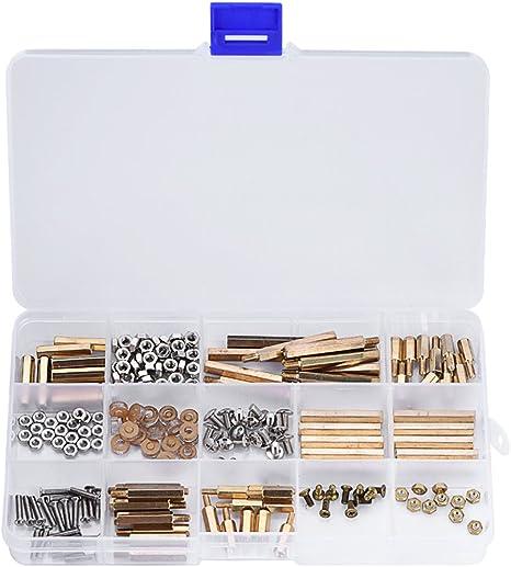 Richer-R Kit Tornillos y Tuercas,Pack de Surtido de Tornillos con Caja de Almacenaje para Fijación,Compatible con Raspberry Pi/Arduino y Sus Partes(210pcs ): Amazon.es: Electrónica