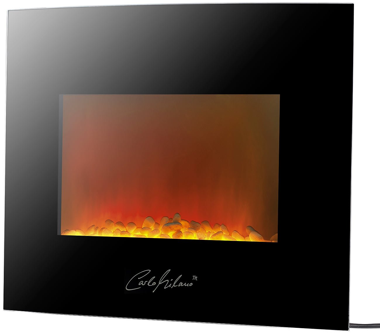 *Carlo Milano Designer Wand-Elektrokamin Atacama*
