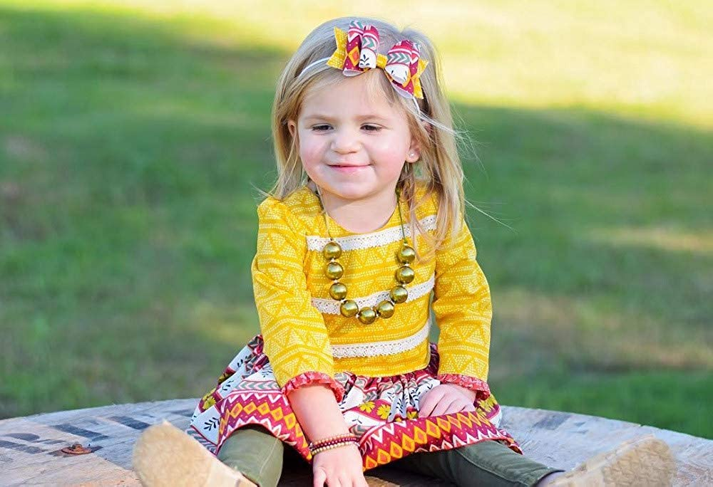 GorNorriss Toddler Kids Baby Girl Pattern Floral Lace Party Dress Outfits Clothes