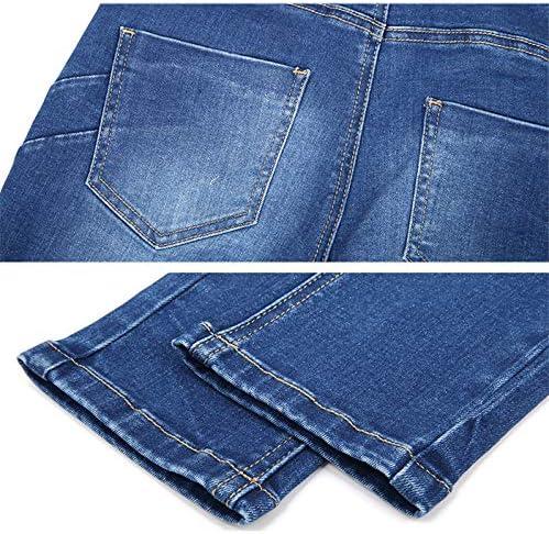 QMGLBG L Size waist casual long jeans fashion side zipper high street comfortable ladies plus size women's jeans