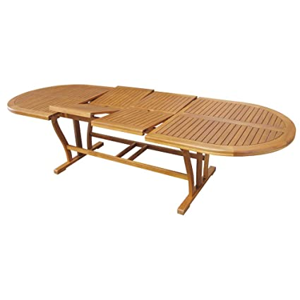 Tavolo Per Esterno Legno.Tavolo In Legno Acacia Gold Allungabile 200 300x110cm Arredo Esterno