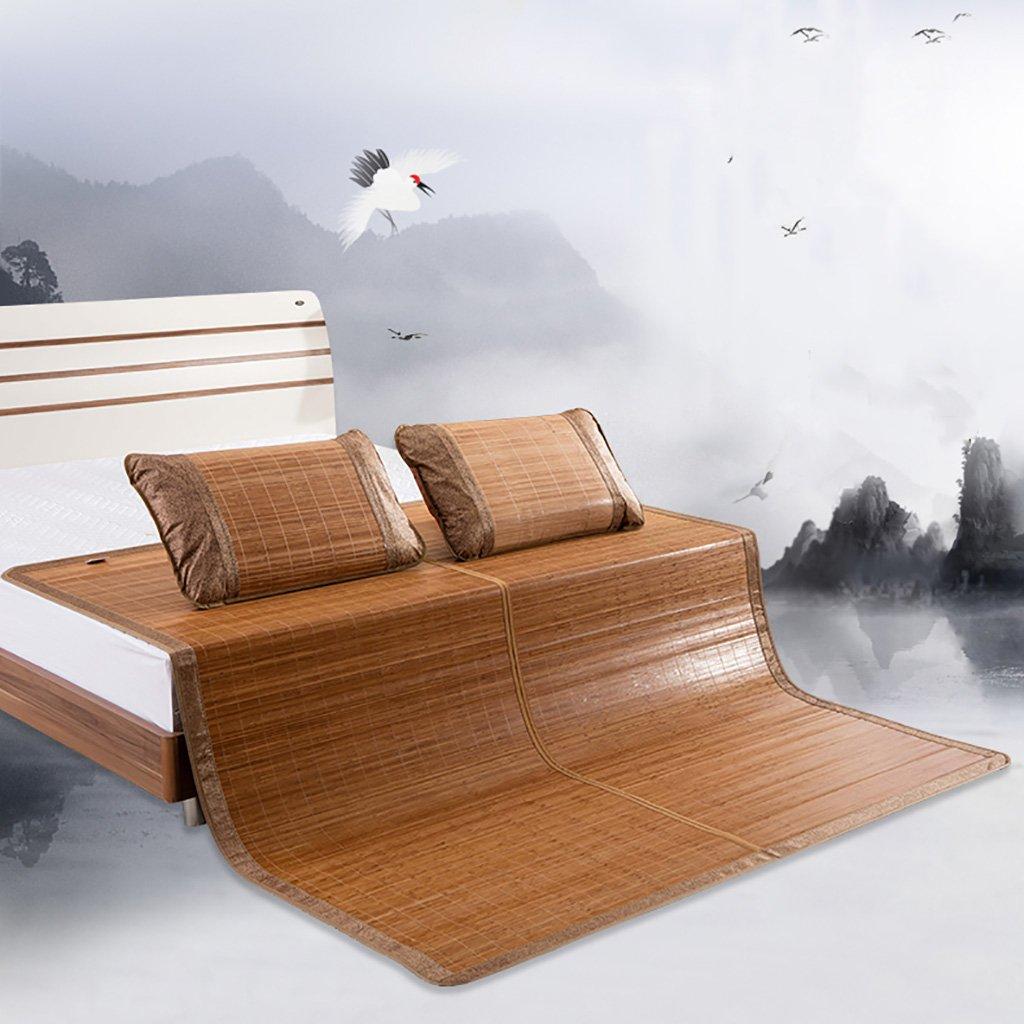 YXWzd Coole Bambusmatte Summer Collapsible Heat Dissipation Pad Eisschlafmatte Bett 0,8/0,9/1,0/1,2/1,35/1,5/1,8 m (3,3/4 / 4,5/5/6 ft) (größe : 1.8m(6feet) Bed)