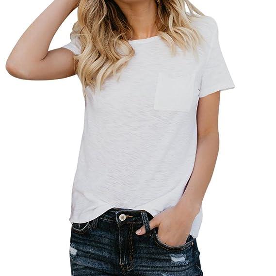 FAMILIZO Camisetas Blancas Mujer, Camisetas Mujer Manga Corta Blouse For Women Camisetas Mujer Verano Blusa