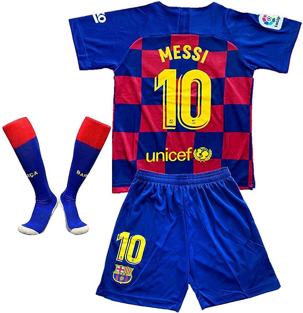 newest 582dd e856f Amazon.com: Barcelona #10 Messi Home 2019-2020 Season for ...