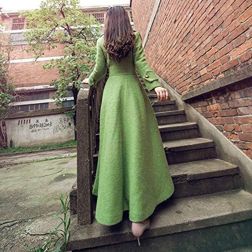 Lana America Fila Slim Misto autunno Fibbia Europa Lunga Sezione s Vento Donna Singola Cashmere E Qiongqiong Inverno Giacca Verde primavera A 6qXgZTw