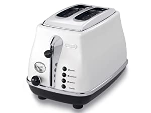 Delonghi CTO2003W Icona Vintage Toaster 220-240 Volts 50Hz Export Only