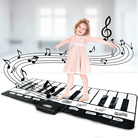 Muslady Alfombra Musical Electrónica Alfombras Teclado ...