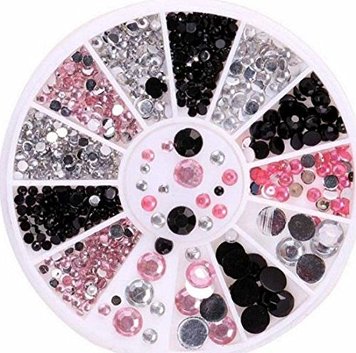 1 Set Great Popular 3D Acrylic Rhinestones Nail Art Wheels Primer Tool Decorations Fashion Tips Pattern Style - Diamonds Glasses With Cartier