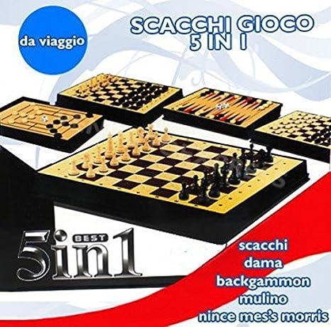 AJEDREZ 5 EN 1 JUEGO SET MESA DE VIAJES DAMA CHAQUETE PORTATIL 512 757: Amazon.es: Electrónica