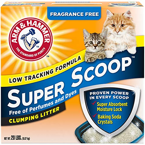 Arm & Hammer Super Scoop Litter, Unscented, 20 Lbs (Packaging May Vary)