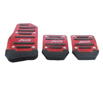 Manual Coche Auto nueva moda antideslizante deportes automático coche Auto vehículo de aleación de aluminio pedal pedal freno de pie cubierta Pad (Manual), ...