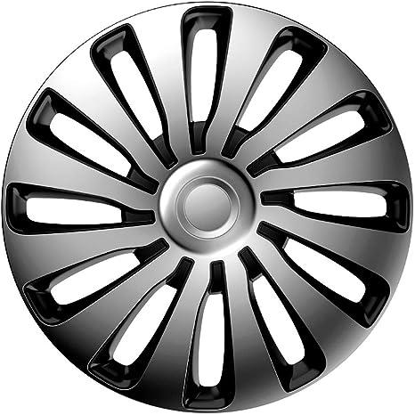 j-tec J15516 Sepang Tapacubos, Silver/Black, 15 pulgadas