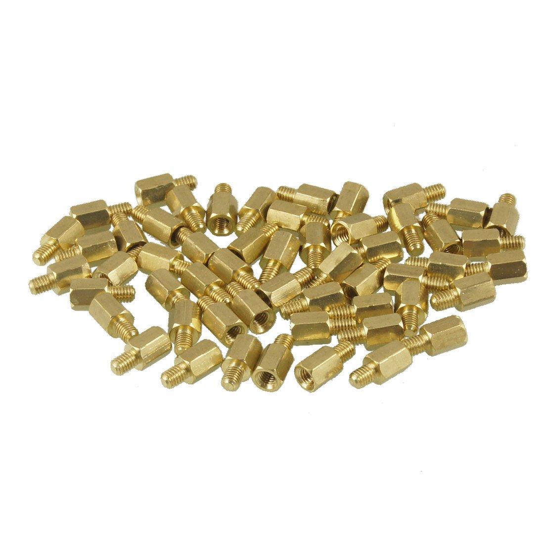 50 Pieces M3 Male x M3 Female 6mm Body Threaded
