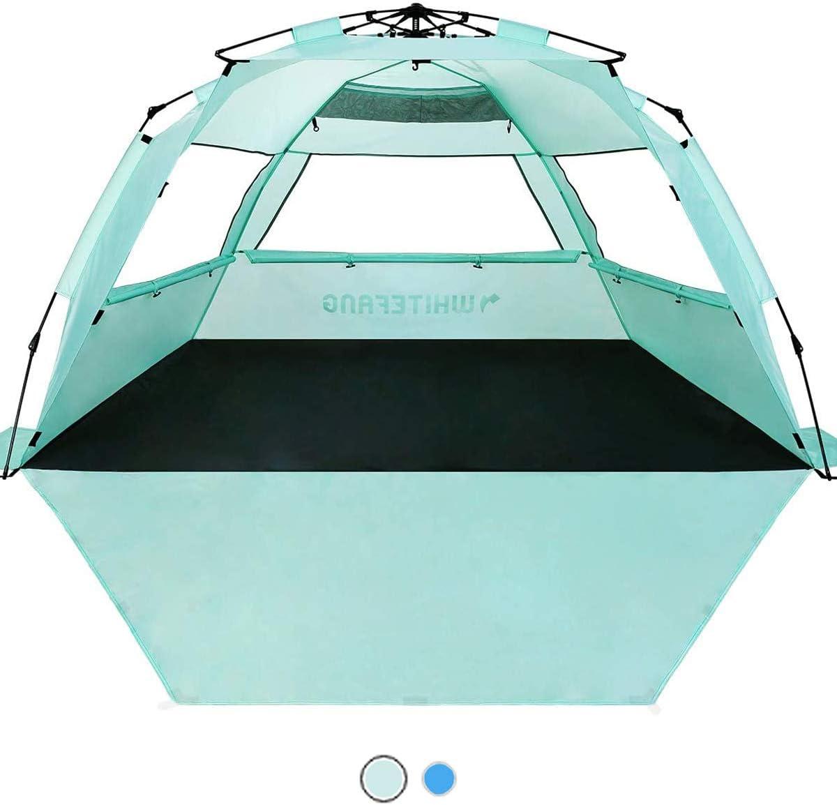WhiteFang Deluxe XL Pop Up Beach Tent Sun Shade Shelter
