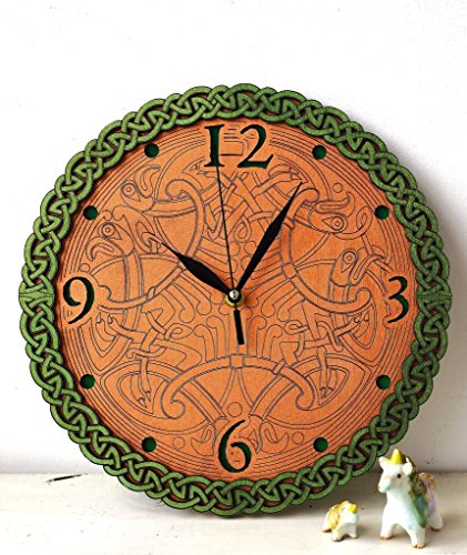 Celtic wooden wall clock I