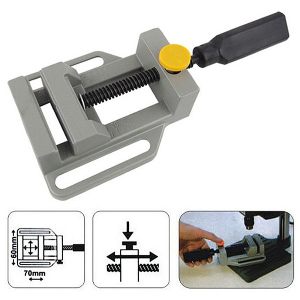 TOOGOO Aluminum Mini Flat Clamp for Drill Stand Handle Engraving Workbench DIY Tool Milling Machine Manual Clamps Woodworking Bench by Toogoo (Image #5)